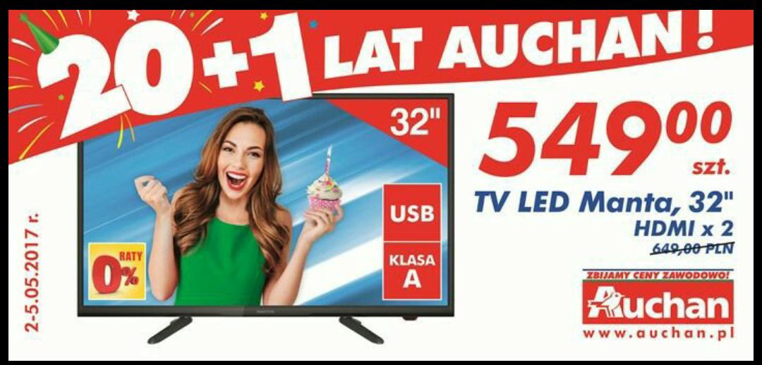 "Telewizor LED MANTA 32"" w Auchan"