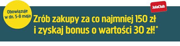 Zrób zakupy za co najmniej 150 zł i zyskaj bonus o wartości 30 zł z kartą Julaclub @Jula