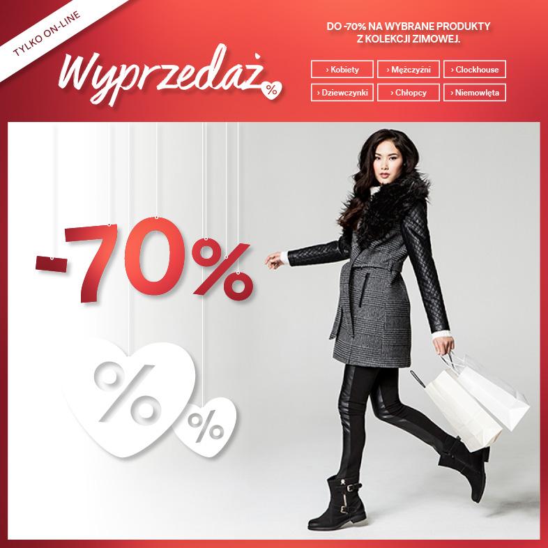 WYPRZEDAŻ kolekcji zimowej do -70% @ C&A