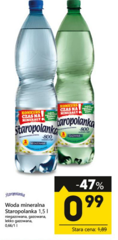 Woda mineralna Staropolanka 1.5L @Eko