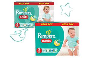 Miesięczny zapas pieluszek Pampers (Premium Care, Pants - różne rozmiary) za 96,98zł z wysyłką @ Feedo