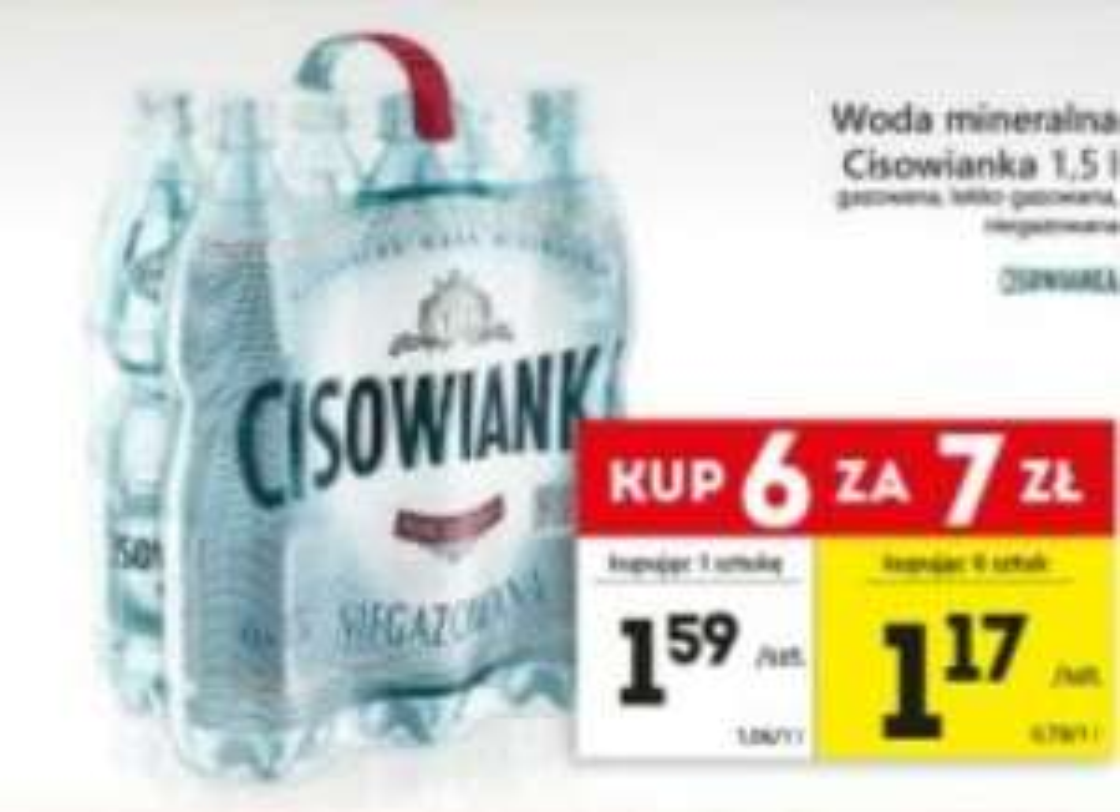 Woda mineralna Cisowianka 6x1.5L @Eko