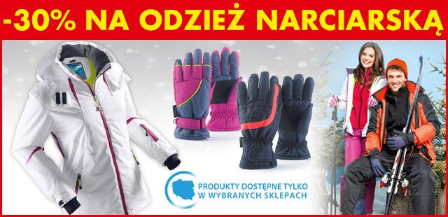 30% rabat na odzież narciarską @ Biedronka