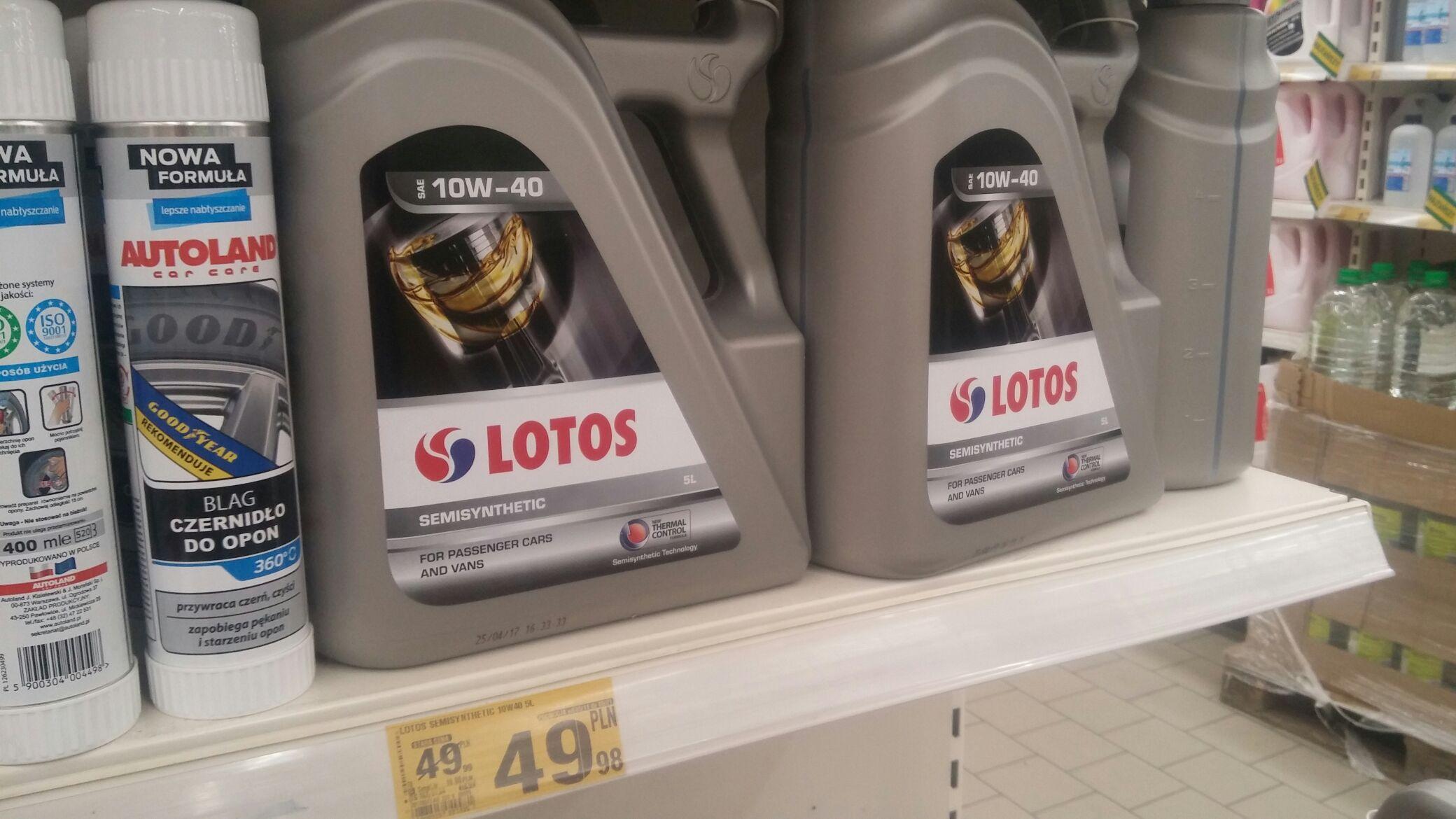 Olej Lotos 10W-40 5 litrów AUCHAN