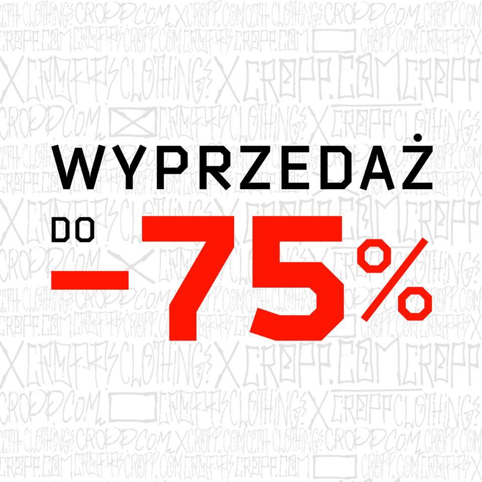 WYPRZEDAŻ do -75% @ Cropp