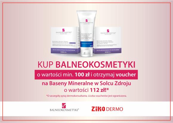 Voucher (112zł) na Baseny Mineralne w Solcu Zdroju przy zakupie Balneokosmetyków za 100zł @ Apteka Ziko