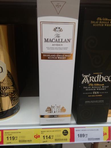 Whisky Macallan Amber @ TESCO