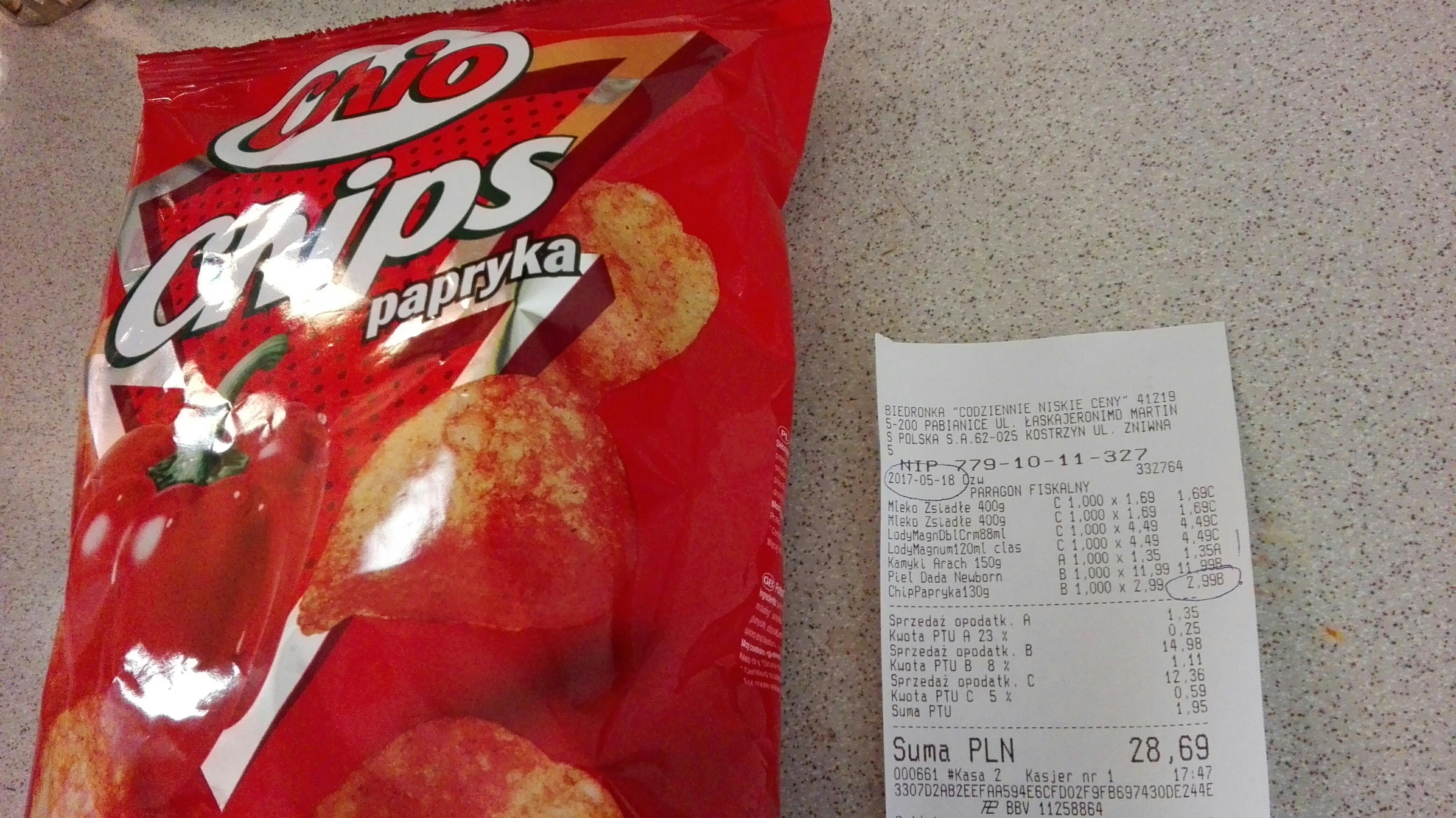Chio chips w Biedronce! Wyprzedaż towaru.