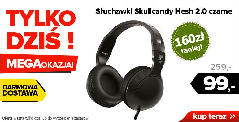(AKTUALIZACJA) Słuchawki nauszne Skullcandy Hesh 2.0 (czarne) za 99zł z dostawą! @ Agito