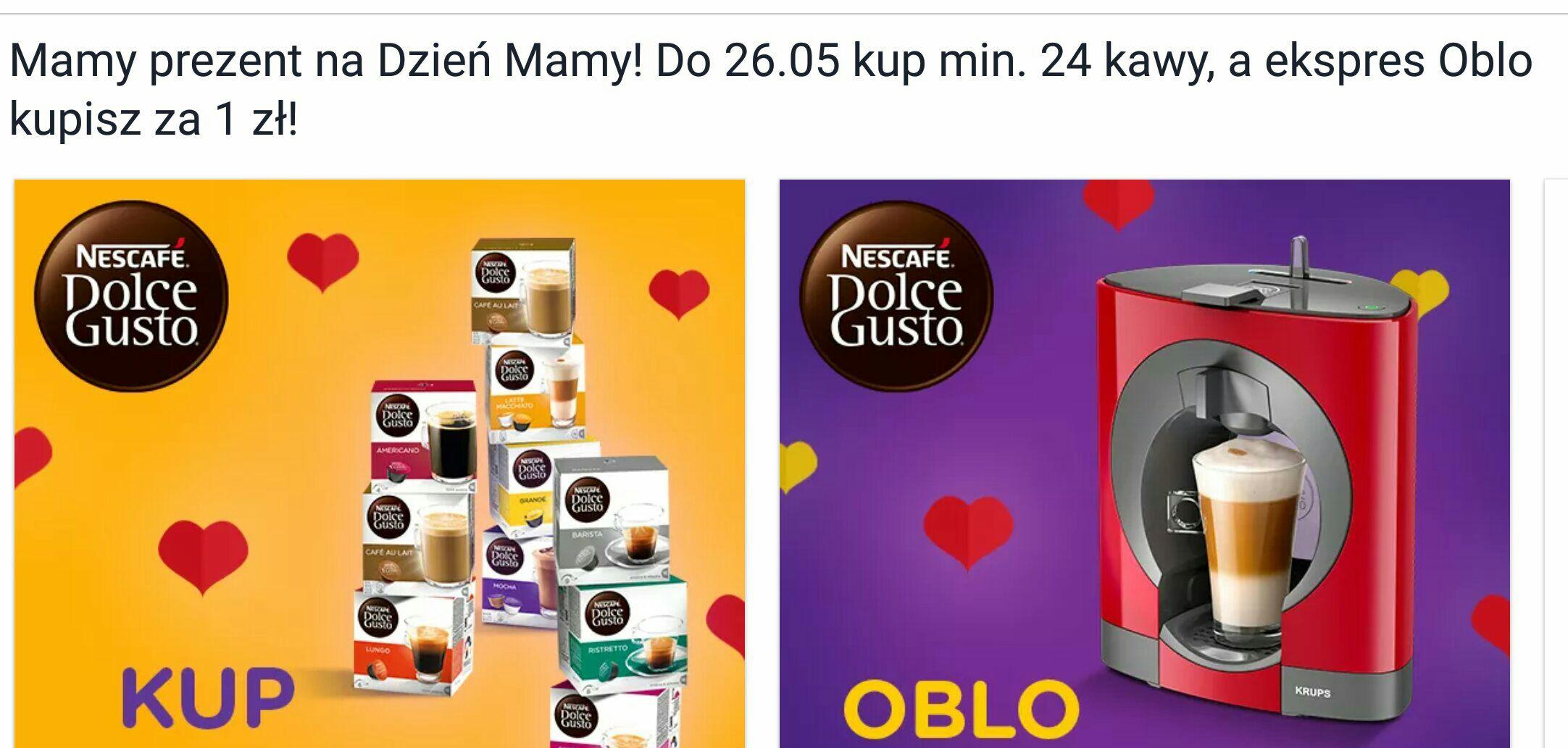 Do 26.05 kup min. 24 kawy, a ekspres Oblo kupisz za 1 zł!
