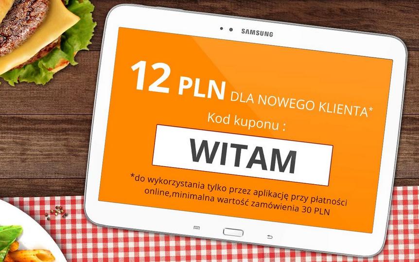 12zł rabatu przy pierwszym zamówieniu jedzenia na wynos za 30zł przez aplikacje mobilną @ Pyszne.pl