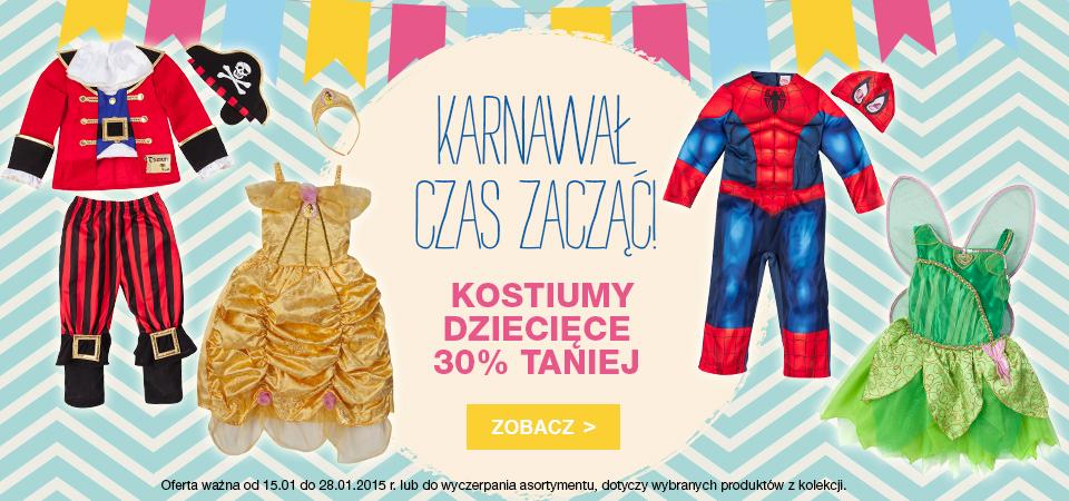 30% zniżki na kostiumy dziecięce @ F&F