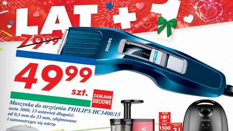 Maszynka do strzyżenia Philips HC3400/15 za 49,99zł @ Auchan