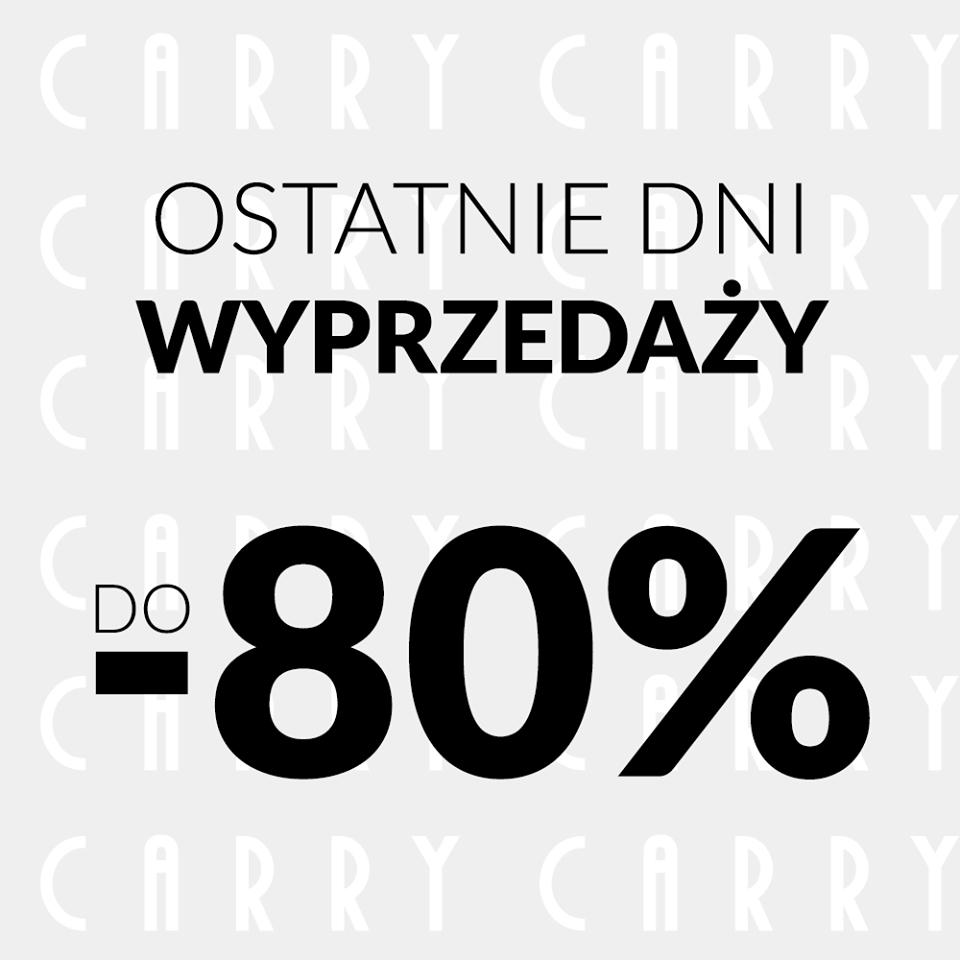 Wielka wyprzedaż z rabatami sięgającymi 80% @ Carry