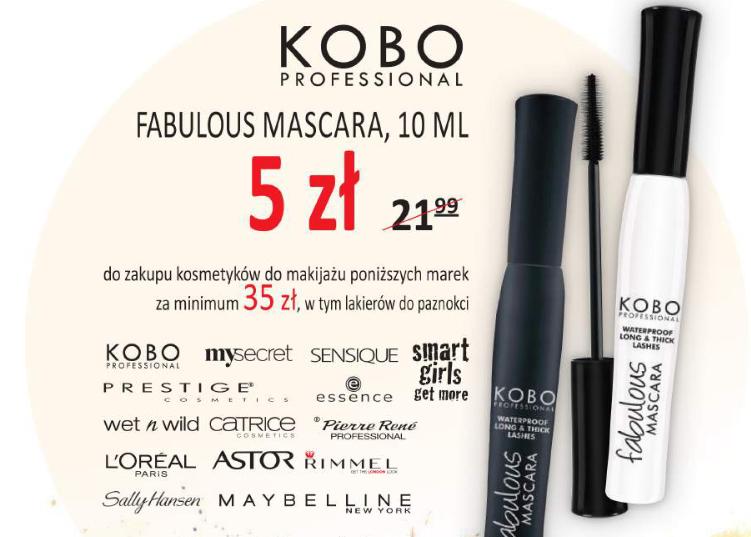 Mascara Kobo za 5zł (zamiast 22zł) przy zakupie kosmetyków za min.35zł @ Natura