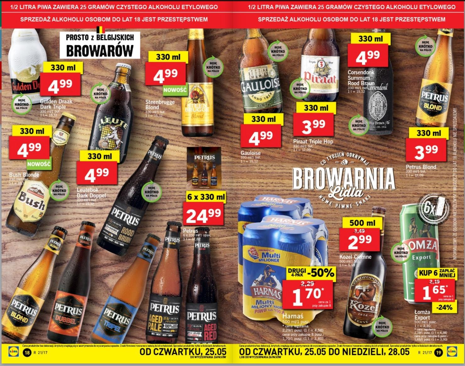 Browarnia Lidla - piwa belgijskie