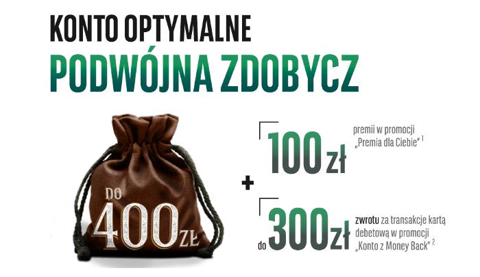 Do 400 zł za otwarcie Darmowego Konta Optymalnego w BGŻ BNP Paribas