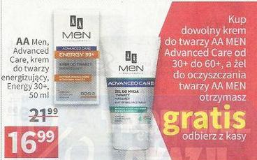 [Od 31.05] Żel do mycia twarzy gratis przy zakupie kremu AA Men @ Rossmann