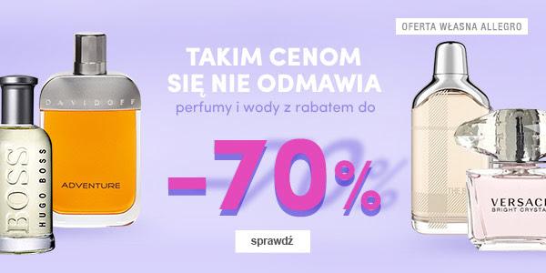 Perfumy na Allegro przecenione do -70%