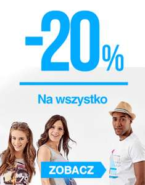 20% zniżki na wszystko + dodatkowy rabat 25zł