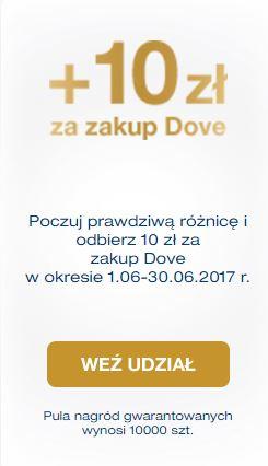 Kup produkt Dove i otrzymaj 10 zł zwrotu
