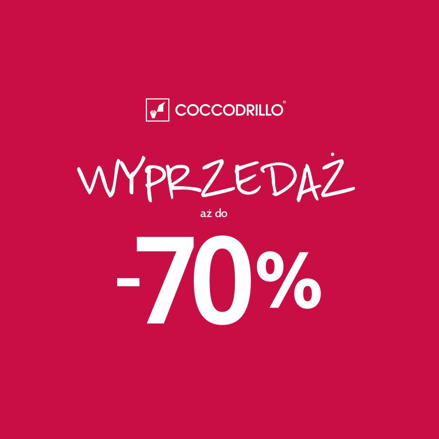 Wielka wyprzedaż i obniżki cenowe sięgające 70% @ Coccodrillo