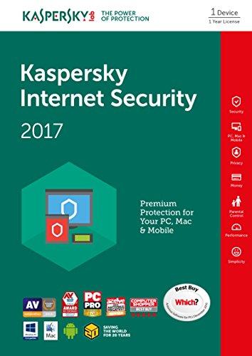 Kaspersky Internet Security 2017 (5 urządzeń na rok - PC,MAC lub Android) za ok. 53zł @ Amazon.uk