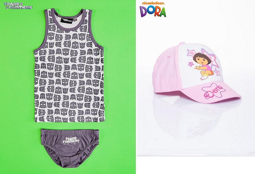 Koszulka+majtki (Star Wars i inne) za 11,21zł, czapka z Dorą za 8,96zł @ Butik