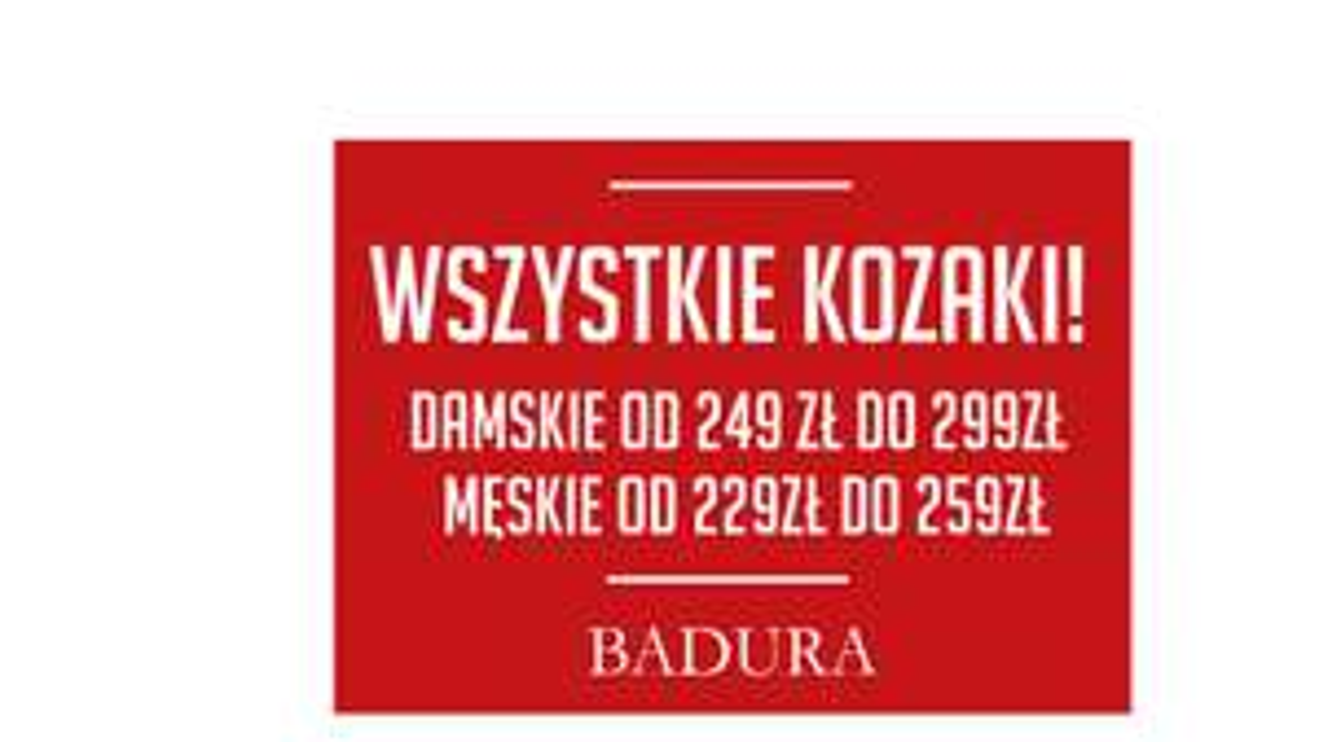 Obniżki na kozaki: damskie od 249zł i męskie od 229zł @ Badura