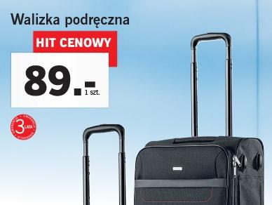 Lidl - przeróżne walizki podręczne i torby podróżne.