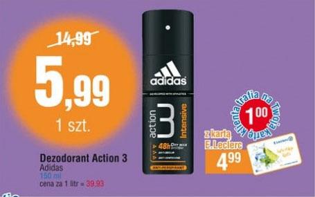 Dezodorant Adidas Action 3 150ml za 5,99zł @ E.Leclerc