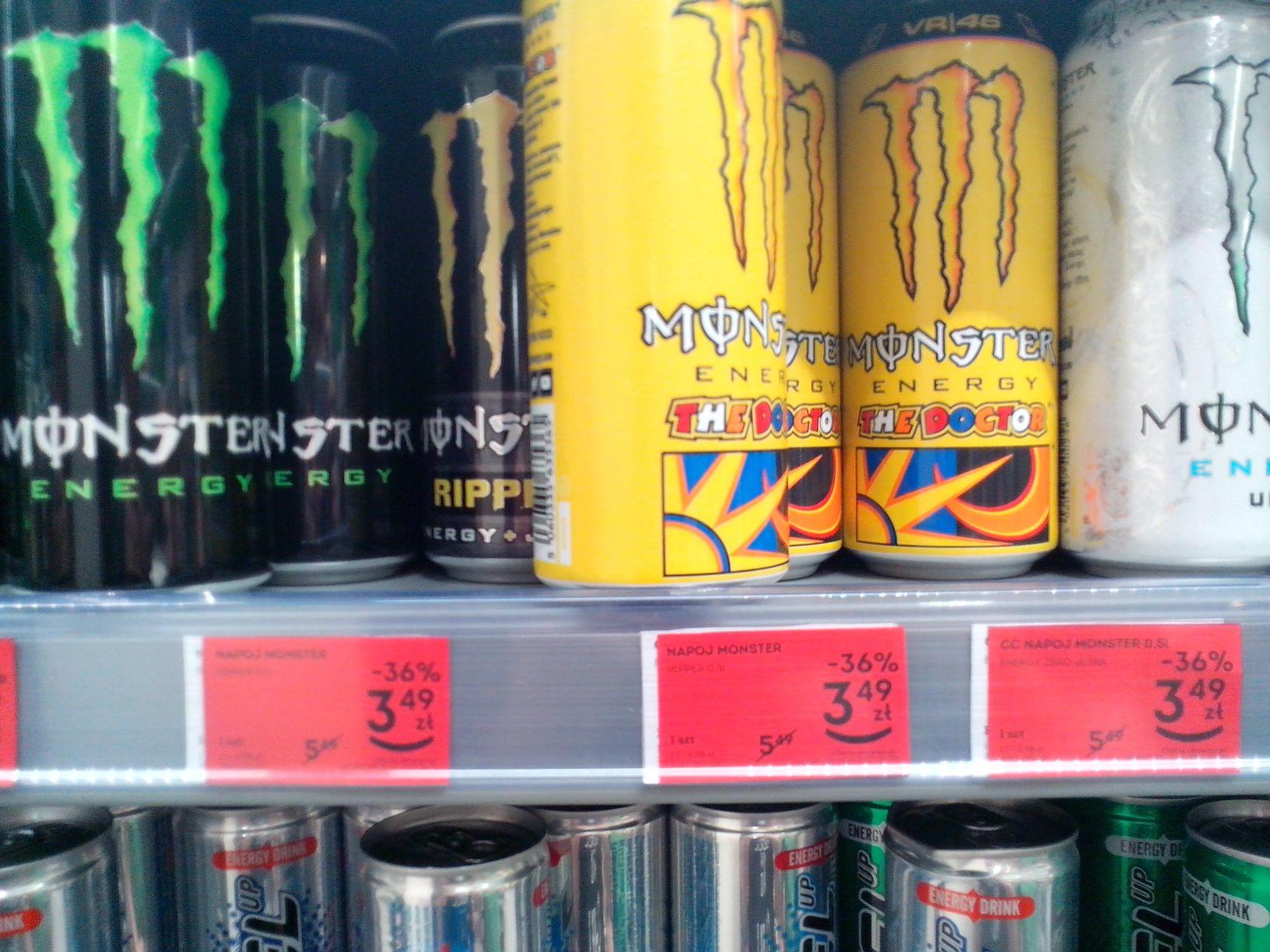 Napój Monster (różne smaki) @Żabka