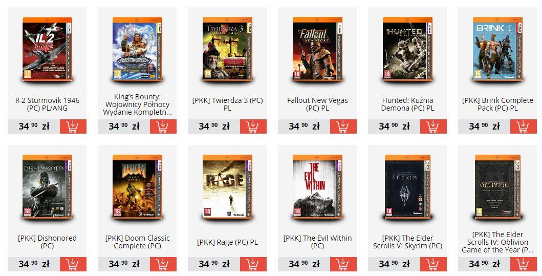 2 w cenie 1 - seria Pomarańczowa Kolekcja Klasyki (min. Morrowind, Oblivion, Skyrim, Total War: Shogun 2, Rage i inne) @ Gry-Online