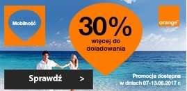 30%  gratis do doładowania orange online