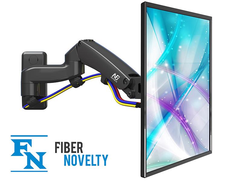 """F150 - Solidny, obrotowy, ścienny uchwyt na sprężynie gazowej do monitorów i telewizorów LCD, LED 17"""" - 27"""""""