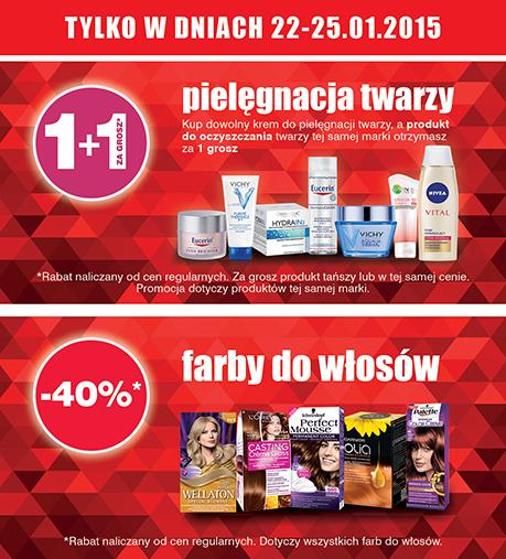 -40% na wszystkie farby do włosów oraz kosmetyki do oczyszczania twarzy za 1 grosz @ Super-Pharm