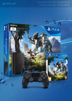 Playstation 4 1TB Slim + dodatkowy pad DS4 + Zero Dawn + Ps+ 90 dni za 1209zł @ Gram.pl