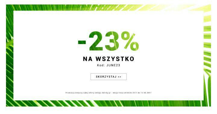 -23% na wszystko @ denley.pl