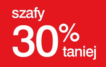 30% zniżki na szafy lub 30 rat 0% @ Black Red White