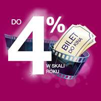 Idea Bank: lokata 4% + 2 bilety do Cinema City w prezencie