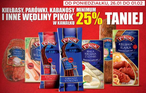 Wędliny marki Pikok minimum 25% TANIEJ @ Lidl