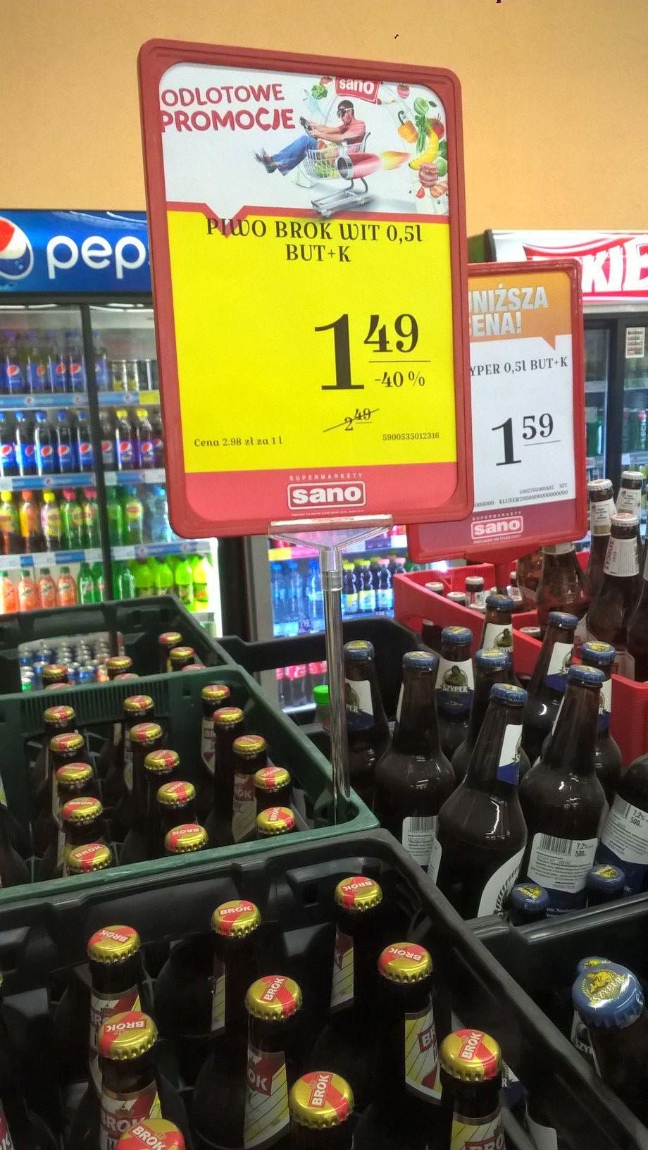 Piwo BROK Wit 500ml, butelka zwrotna