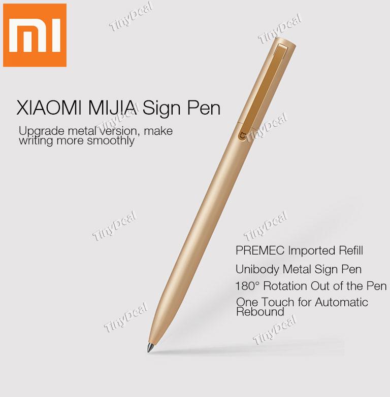 Metalowy długopis Xiaomi Mijia (złoty/srebrny) @ TinyDeal