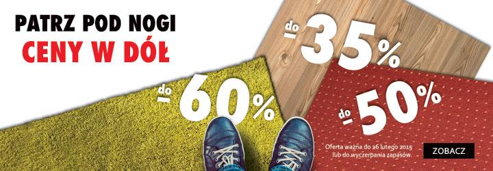Do 60% zniżki na dywany @ Komfort