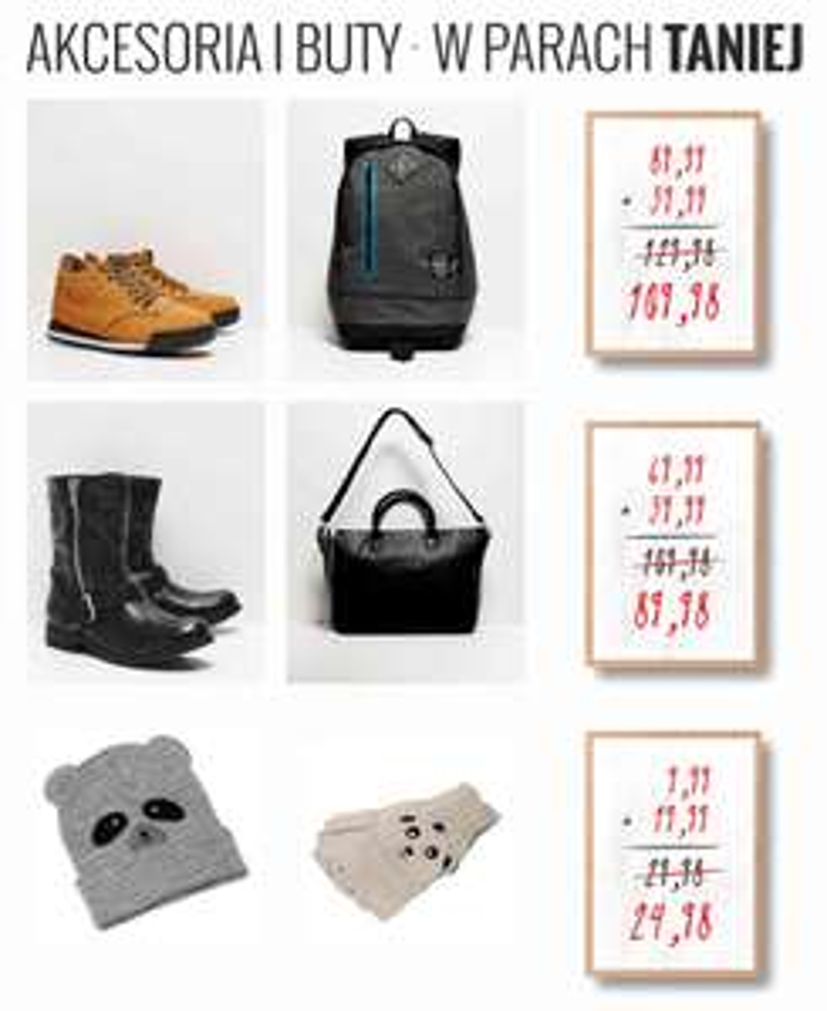 Akcesoria i buty -50% na drugą rzecz @ House