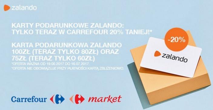 Karta Podarunkowa Zalando 20% taniej w Carrefour