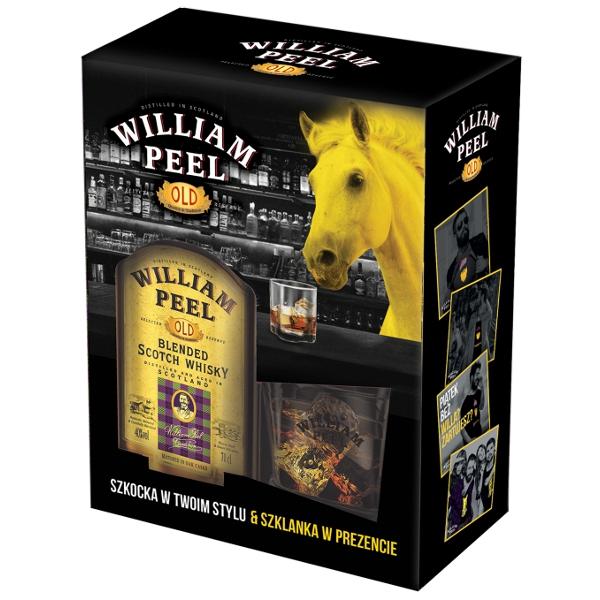 Whisky William Peel 0,7l + szklanka POLOmarket