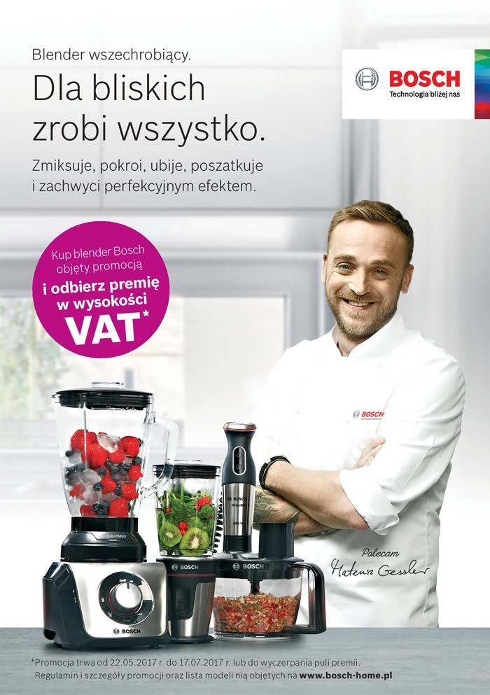 Kup blender Bosch objęty promocją i odbierz premię w wysokości VAT