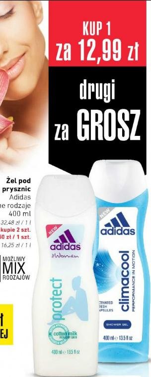2 x żel pod prysznic Adidas 400ml za 12.99zł | Dezodorant Rexona 40-150ml - 6.49zł @Intermarche