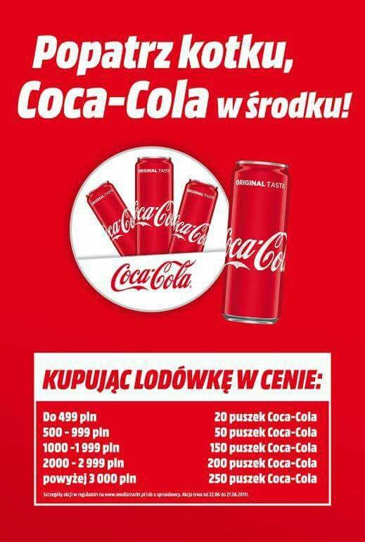 Coca-Cola gratis przy zakupie lodówki @MediaMarkt